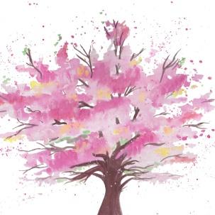 blossom tree card
